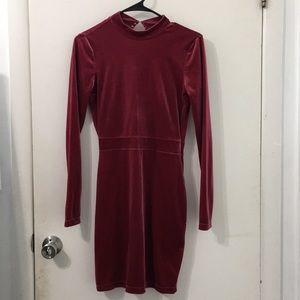 H&M Velvet body con dress